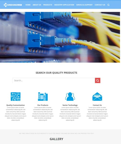 蓝色传感器企业主题