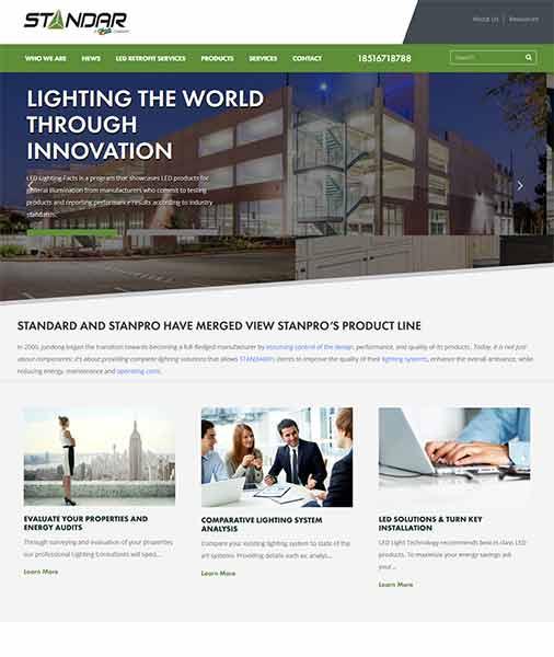 LED wordpress外贸网站模板